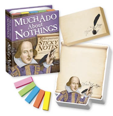 Shakespearean sticky notes
