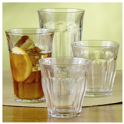 stackable Duralex Picardie glasses