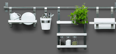 kitchen utensil rail system