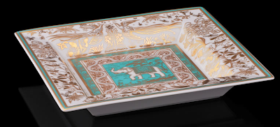 vide poche, porcelain, with elephant
