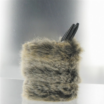 furry pencil cup