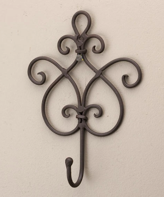 elegant wrought iron hook