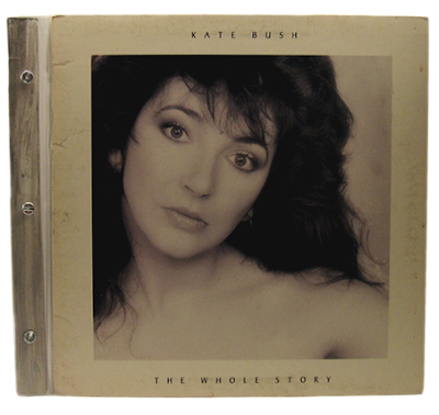 record cover scrpabook - Kate Bush, The Whole Story