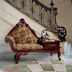 upholstered gossip bench