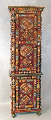 ornate chimney cabinet