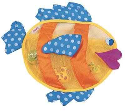 bath toy organizer shaped like a fish