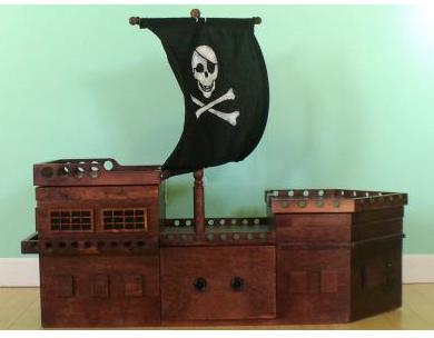 pirate ship toy box