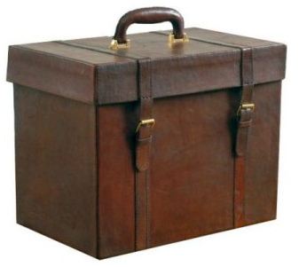 leather file box