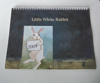 Little White Rabbit wall calendar