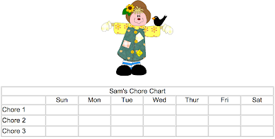 chore chart created online