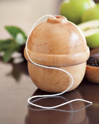 acorn-shaped twine holder