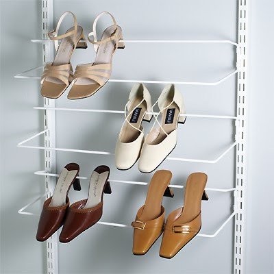 elfa shoe rack
