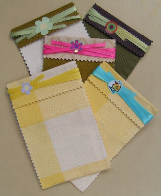 gifts bags from fabric samples