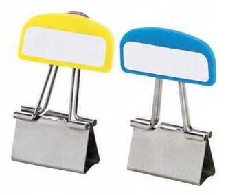 binder clips with labels