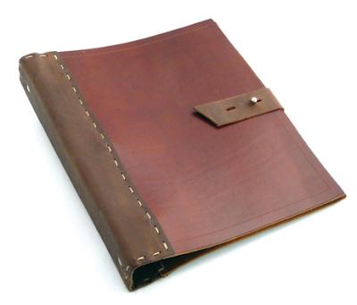 Ring Leather Binders Embossed