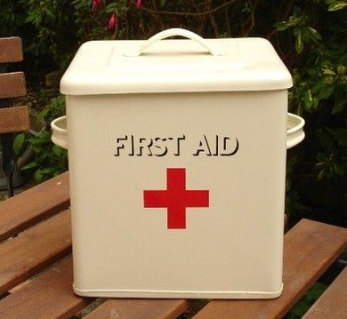 first aid box - enamel