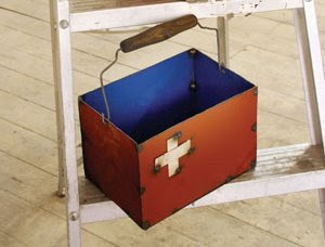 first aid tote box from recycled materials