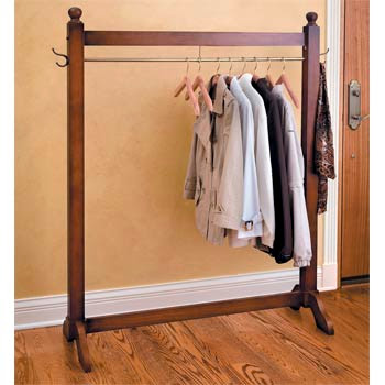 wood garment rack