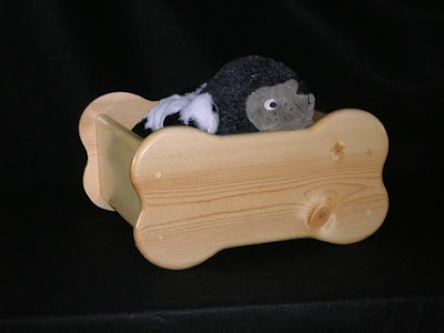 bone-shaped wooden pet toy box