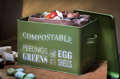 kitchen compost bin, green