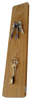 magnetic key rack, oak