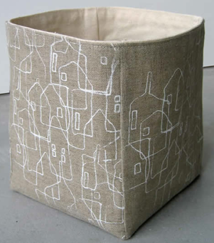 linen and canvas storage box - or bucket
