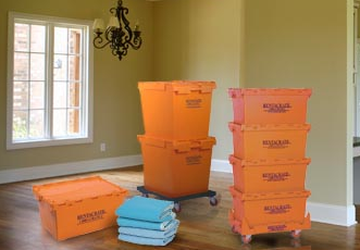 rented plastic moving crates