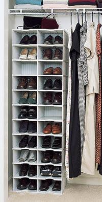 Container Store Shoe Rack Closet