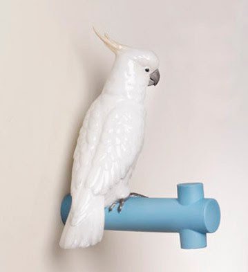 Lladro parrot coat rack