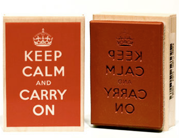 Keep Calm and Carry On rubber stamp