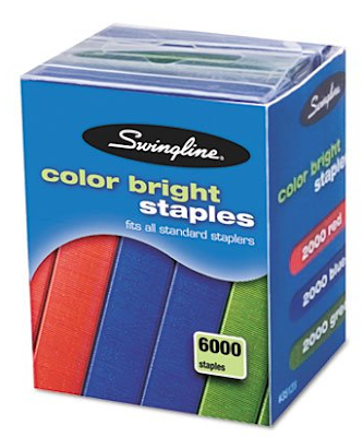 colored staples