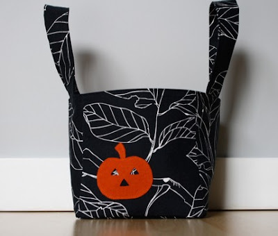 Halloween fabric bucket