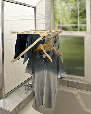 drying rack which installs on window
