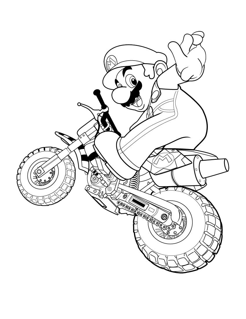 Oisín's Mario Colouring Pages