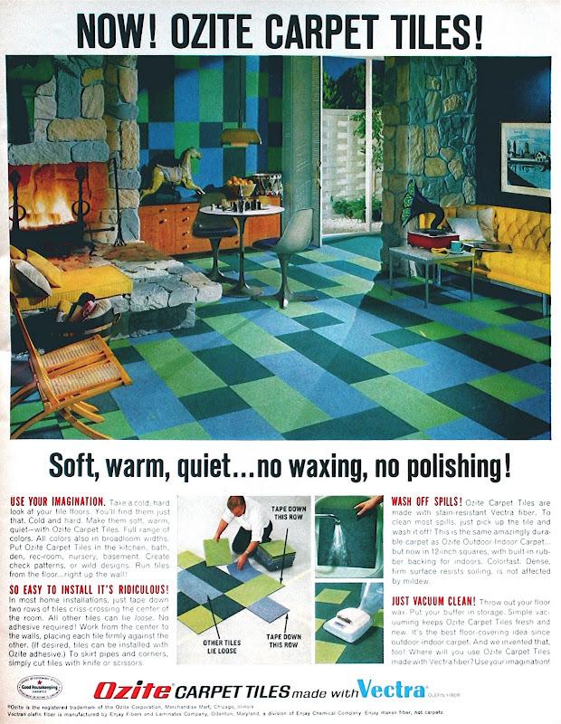 I M Learning To Share 1968 Print Ad Ozite Carpet Tiles