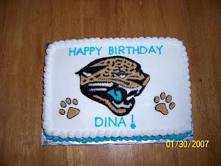 Jacksonville Jaguars Cake