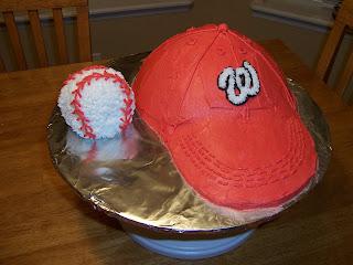 ball cap and ball cake