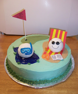 funny golf cake