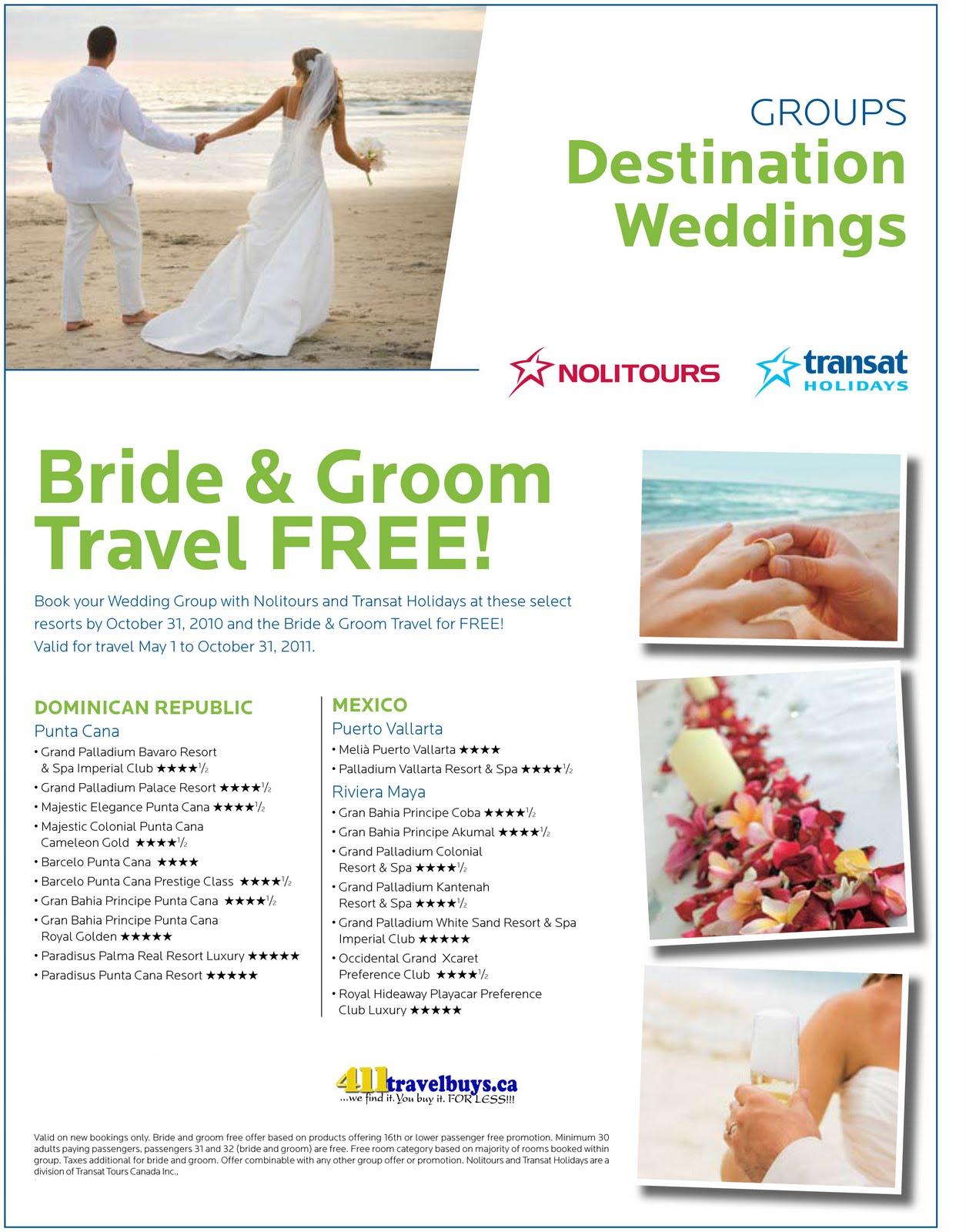 Bonanza May 2011: 411 Travelbuys Blog: 411 TRAVELBUYS: Wedding Groups