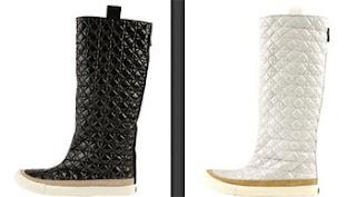 botas blancas y negras