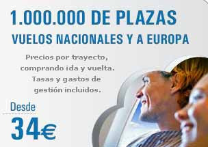 vuelos nacionales europa