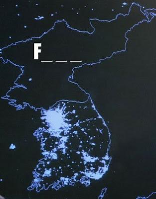 north korea map at night. hot north korea map. korean