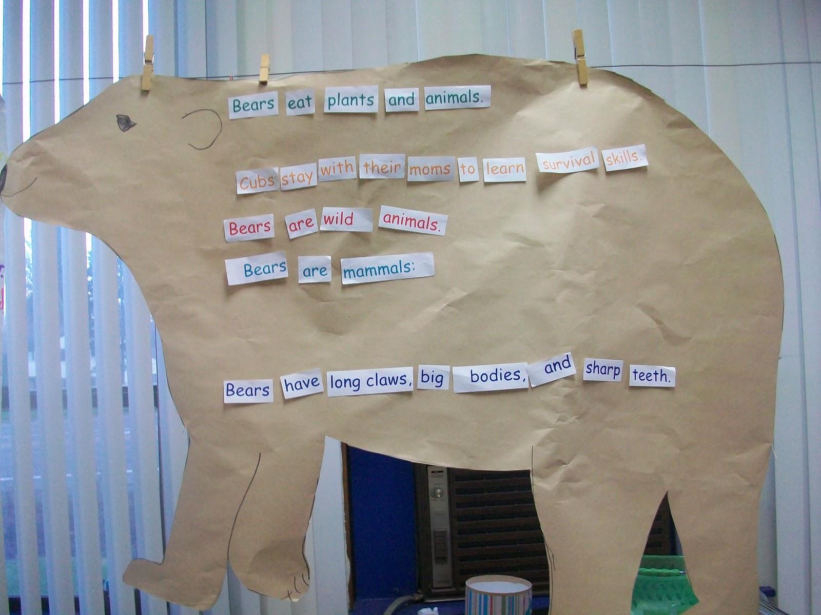 Sarah S First Grade Snippets Bear Unit