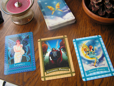 photograph of fairy oracle cards