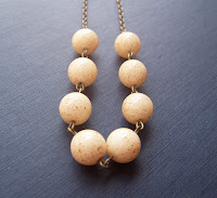 vintage bead necklace speckled by Two Cheeky Monkeys on Etsy