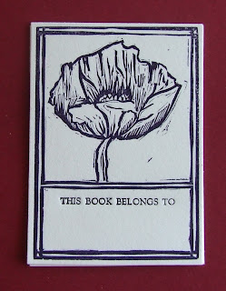 image poppy bookplates letterpress bookplates by ruby victoria printmakin on etsy