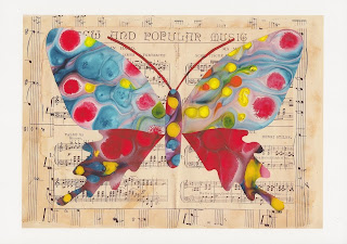 image musical butterfly print by kathy panton
