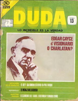 Breve Historia de Editorial posada -  (la revista DUDA)