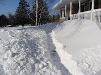 Front path after shovelling workout