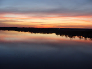 Sunset over Tyendinaga, taken from the Skyway Bridge